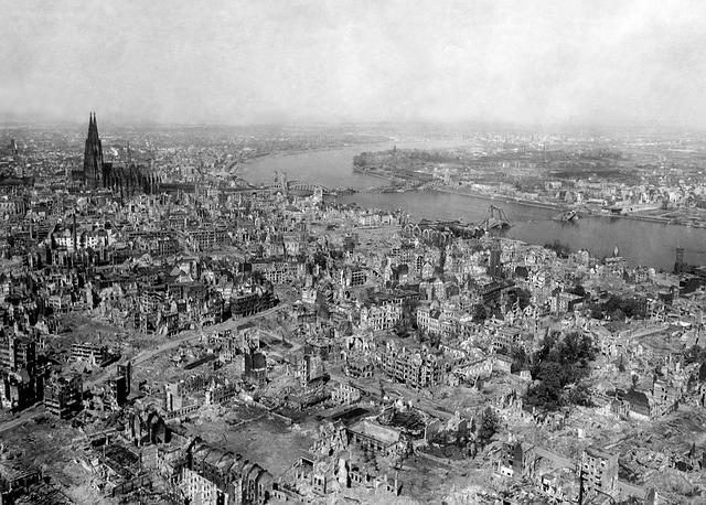 Stadt in der Nachkriegszeit